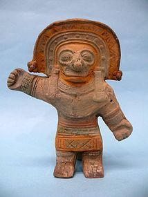 Jama Coaque Pottery Shaman with Tail