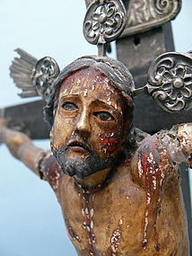 18th C. Colonial Cuzquena School Crucifix, Cuzco Peru