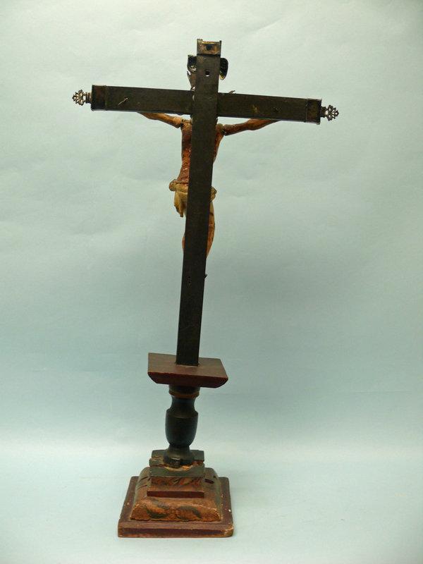 18th C. Colonial Cuzquena School Crucifix, Cuzco Peru