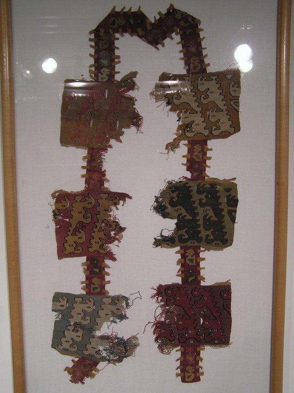 Chimu Zoomorphic Textile Fragment