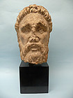 Gallo Roman Limestone Head of Emperor Macrinus