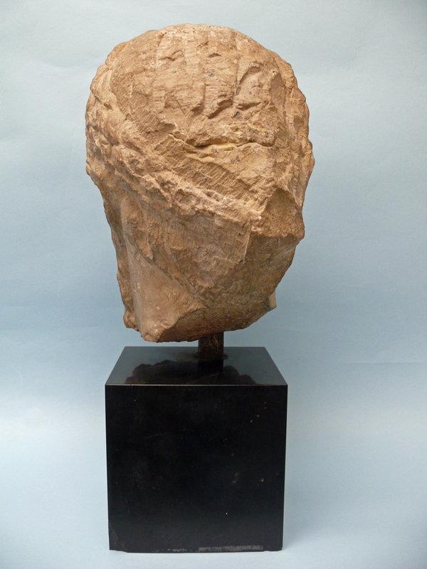 Gallo Roman Limestone Head of Emperor Macrinus