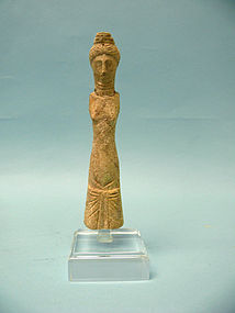 Roman Bone Votive Carving of a Goddess or Maiden