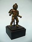 Miniature Roman Bronze Winged Cupid