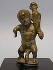 Rare Miniature Hellenistic Bronze Nude Dwarf