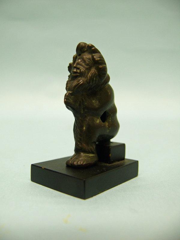 Miniature Romano - British Bronze Figure of a Bound Captive