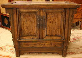 Qing Dynasty Elmwood, Rattan, Shanxi Cabinet