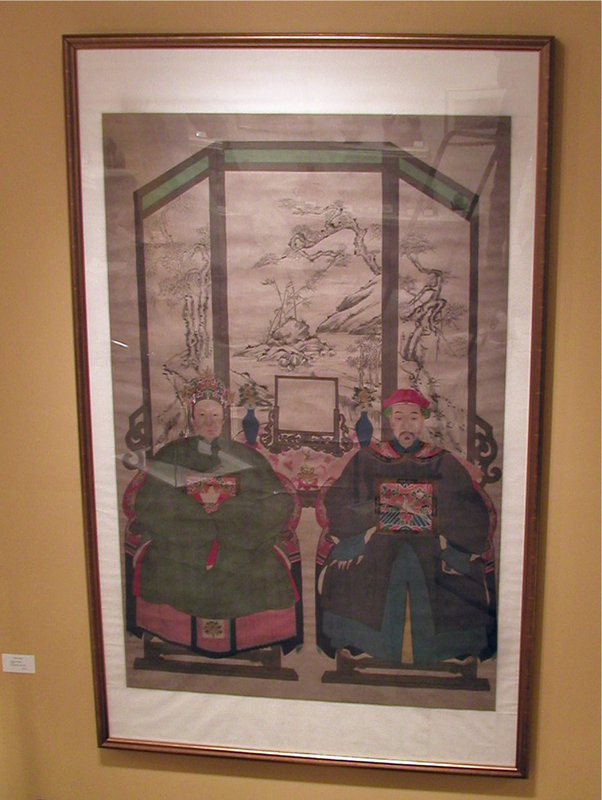 Qing Dynasty Ancestor Portrait on Rice Paper