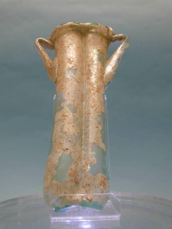 Roman Green Glass Balsamarium