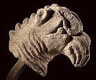 Roman Basalt Head of a Mythical Griffin from Syria