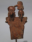Egyptian Bronze Pectoral of God Shu & Goddess Tefnut