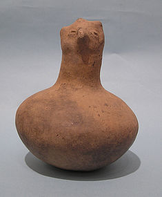 Native American Mississippian Pottery Hooded Owl