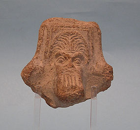 Hellenistic Brazier Fragment, Head of Bearded Man