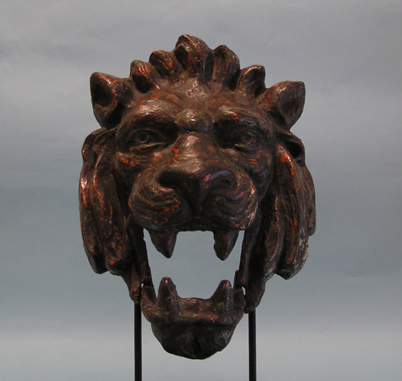 Victorian Cast Iron Head of a Lion, Articulated Jaw
