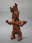 Rare Colima Pottery Warrior Vessel