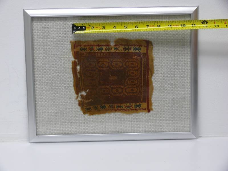 Two Egyptian Framed Coptic Textile Fragment