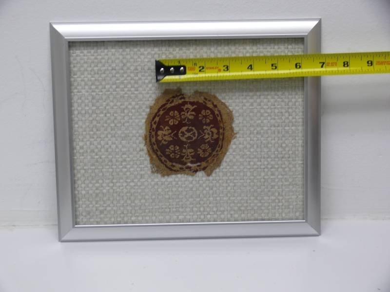 Two Egyptian Framed Coptic Textile Fragment
