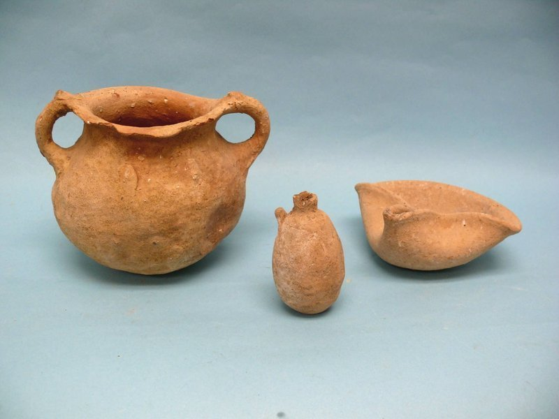 Ancient Holy Land Pottery, Grouping of Three Artifacts