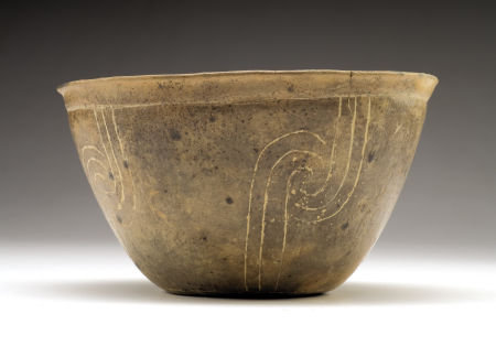 Native American, Mississippian Pottery Bowl