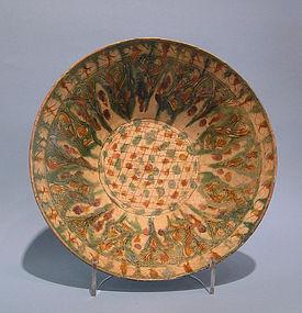 Persian Sgraffiato Bowl, Medieval Nishapur Iran
