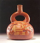 Moche II Pottery Jaguar God Stirrup Vessel