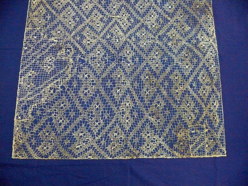 Chancay Lace Textile Panel