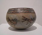 Vallego Polychrome Pottery Bowl with Avian Motif