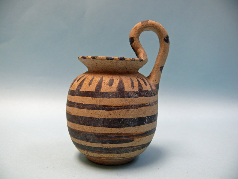 Small Daunian Pottery High Handle Juglet