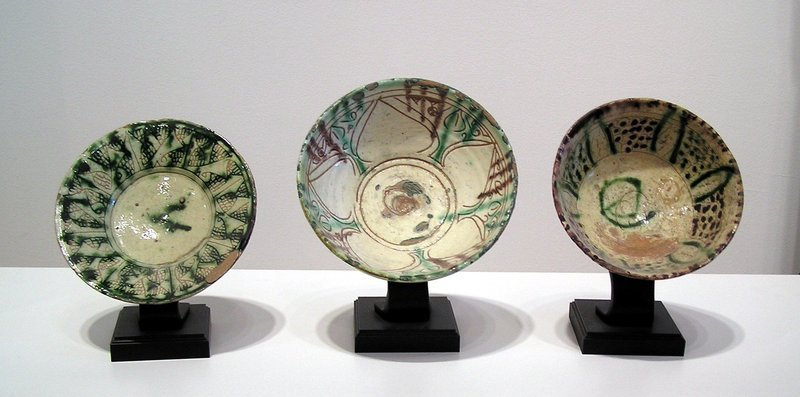 Afghanistan, Bamiyan Ceramic Bowls & Saucer