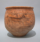 Indus Valley Civilization Painted Pottery Bowl