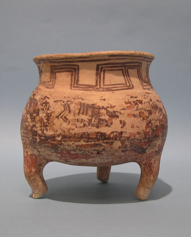 Persian Pottery Tripod Vessel found in the Holy land