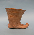 Persian Pottery Boot Chalice, Teddy Kollek collection