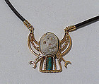 Egyptian Steatite Scarab Necklace, XII Dynasty