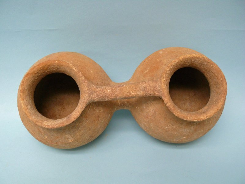 Middle Bronze Age I Canaanite Pottery Twin Jug, Holy Land