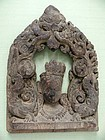 Southern Indian Bodhisattva Wooden Altar Fragment