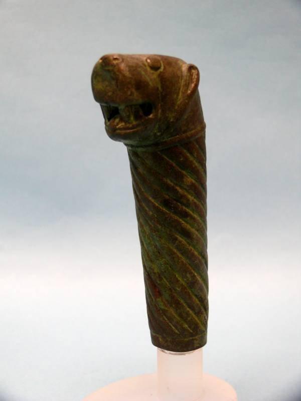 Parthian Bronze Lion-Headed Handle