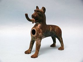 German Bronze Canine Waterspout, Fountain