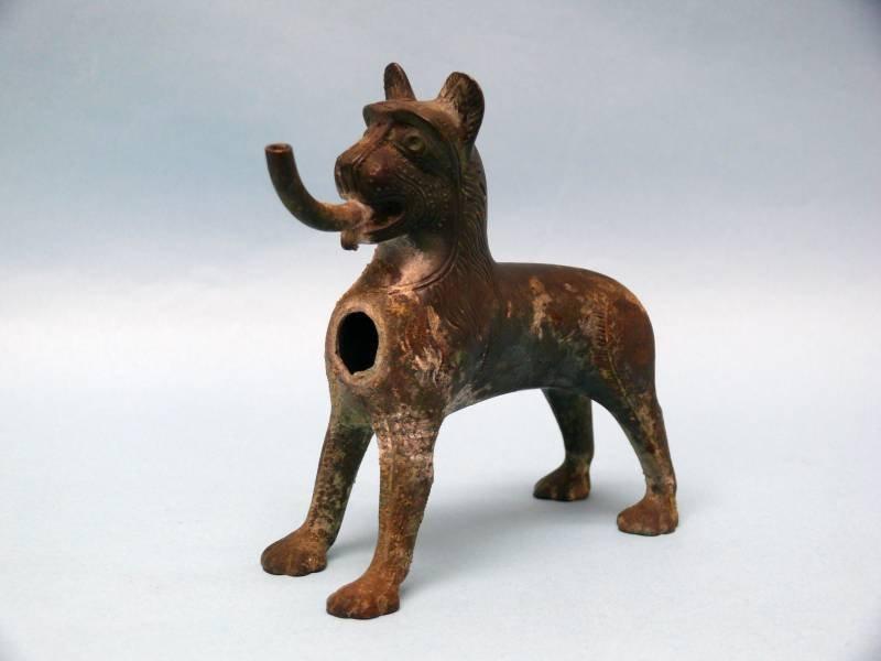 German Bronze Canine Aquamanile