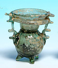 Roman Glass Sprinkler Jar