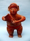 Colima Pottery Standing Musician, Protoclassic