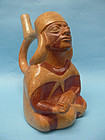 Moche IV Coca Leaf Vendor Stirrup Vessel