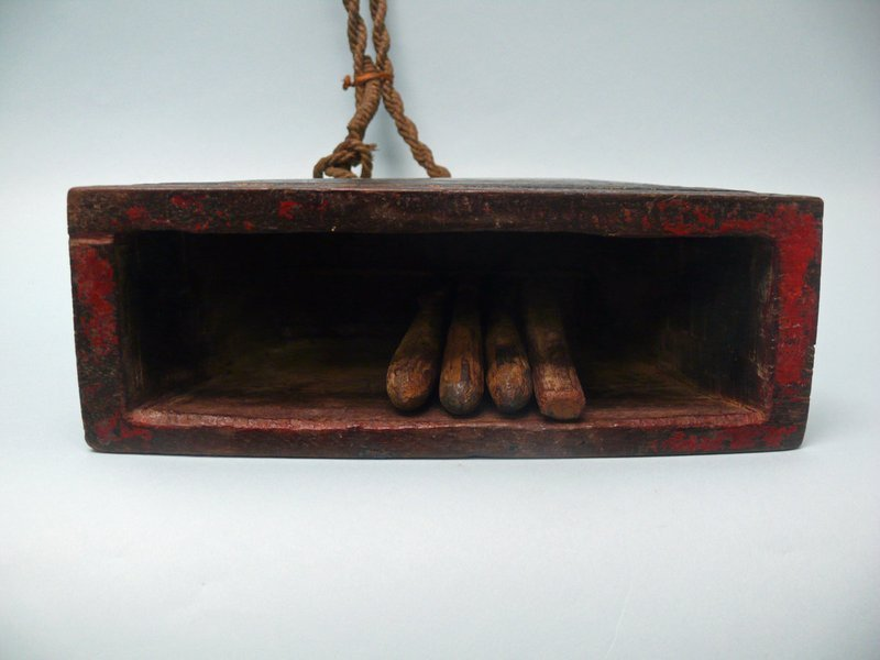 Cambodian Wooden Cow Clapper, Cowbell