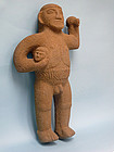 Costa Rican Basalt Warrior Figure
