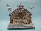 Antique German Silver / Gold Chanukah Lamp