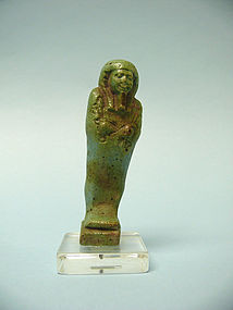 Egyptian Turquoise Glazed Composition Ushabti / Shabti