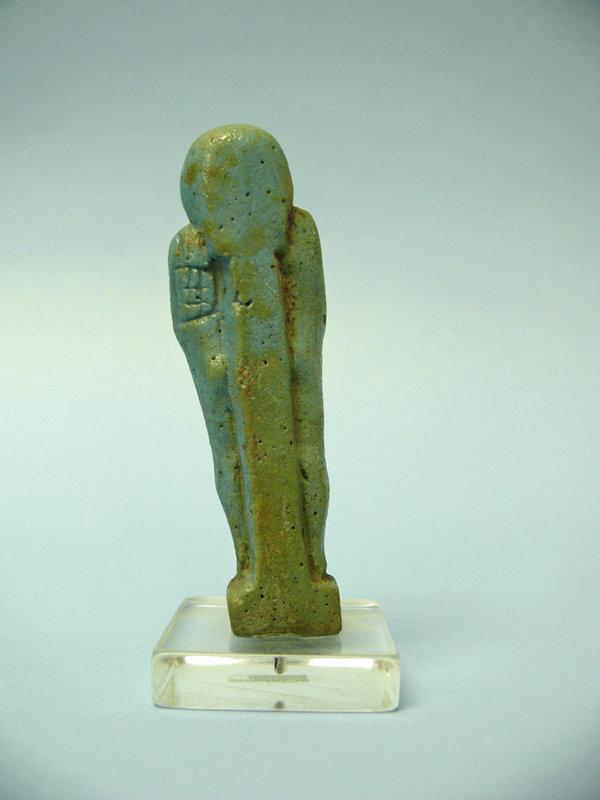 Egyptian Turquoise Glazed Composition Ushabti / Shabti