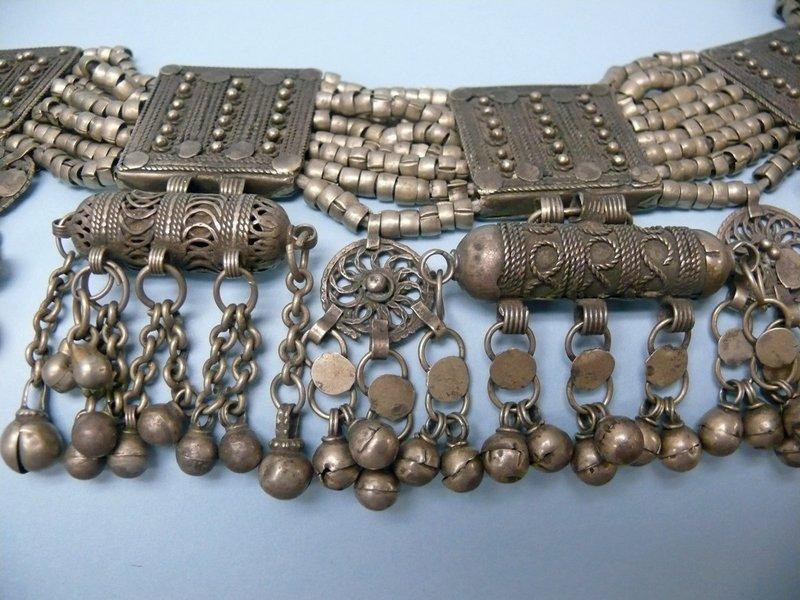 Antique Yemenite Silver Jewish Wedding Jewelry