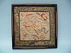 Early 20th Century Framed Chinese Silk Embroidery Textile