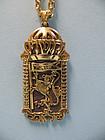 18K / Sterling Silver Necklace, Jerusalem of Gold, by Michael Ende