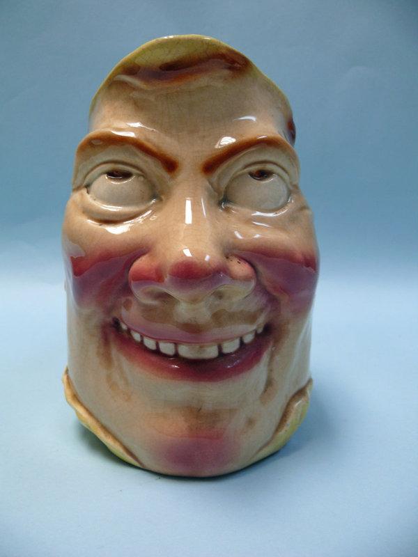 Sarreguemines Majolica Jolly Fellow Face Jug / Pitcher